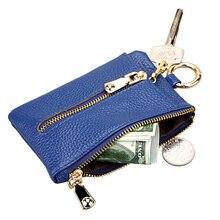 TRASSORY Fashion Solid Car Key Bag Genuine Leather Fancy Holder Organizer Coin Money Pouch Designer for Women Men