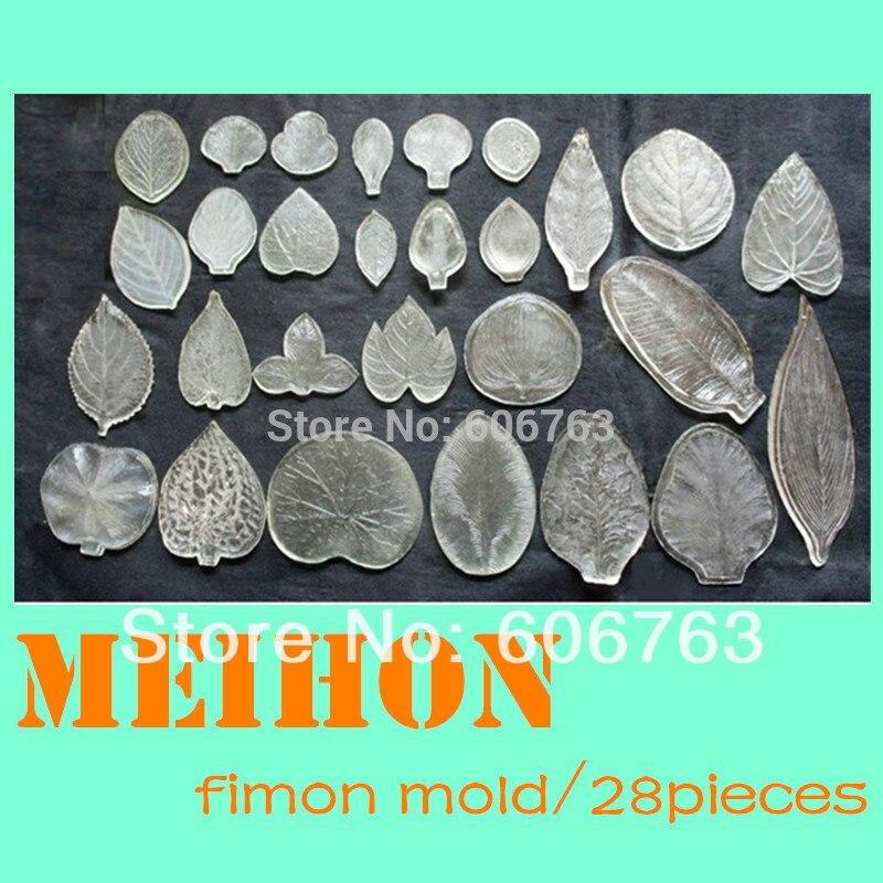 27pcs Polymer clay molds DIY handmade flower Fondant Tools Fimo mold Rose peony leaf petal Resin