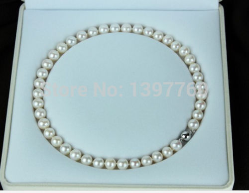 Miss charm Jew.300 10-11MM SOUTH SEA GENUINE PERFECT ROUND AAA WHITE PEARL NECKLACE AAAMiss charm Jew.300 10-11MM SOUTH SEA GENUINE PERFECT ROUND AAA WHITE PEARL NECKLACE AAA