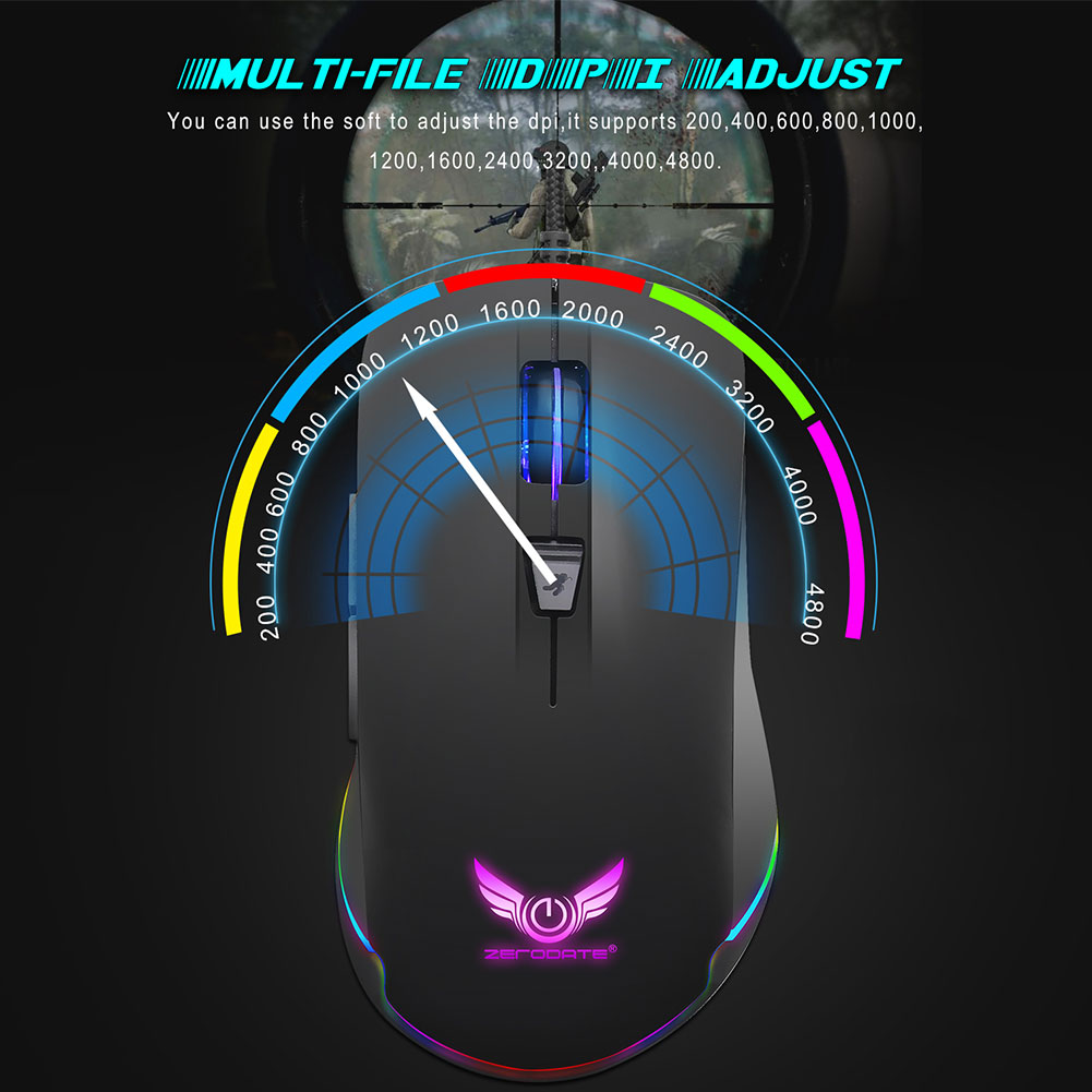 Portable Wired Optical Ergonomics Electronic Sports Gaming Mouse for Laptop PC