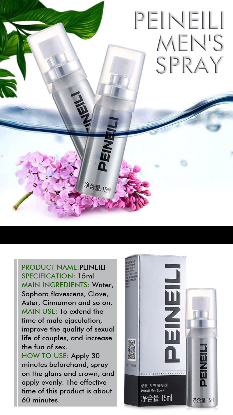 Peineili Delay Spray For Male Anti Premature Ejaculation Prolong 60 Minutes Big Dick Enlargment Spray Cock Erection Enhance Back To Search Resultsbeauty & Health