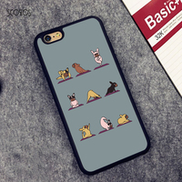 French Bulldog Yoga Poses Style Fashion Phone Cover Case For Iphone 4 4s 5 5s SE