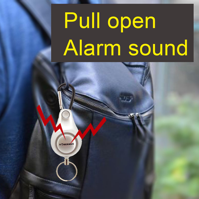 Personal Alarm Women Security Keyring Emergency Self Defense for Outdoor Survival Camping Backpack LCC77