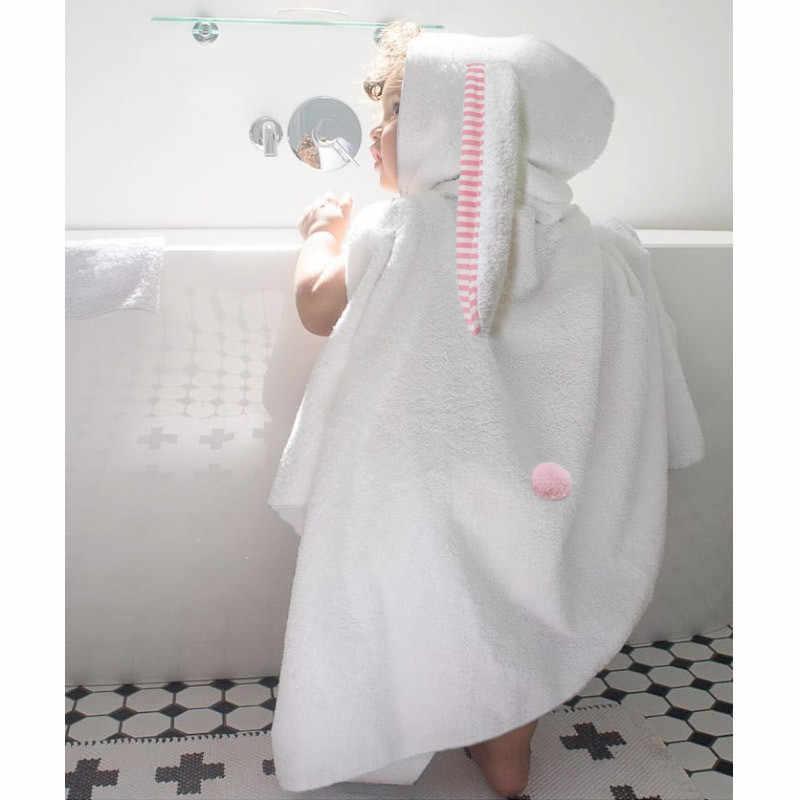 2018 Hooded Kids Bathrobe Children s Bathrobes Cartoon Rabbit Ear Boys  Girls Towel Bathrobe Dressing Gown Baby 15e098d6f