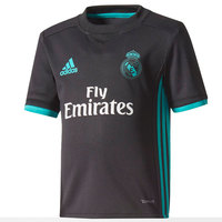 Real madrid 2017 2018 Boy Adidas black polyester Football Shirt soccer jerseys, REAL MADRID SHIRT