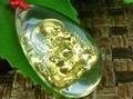 Большой золотой красоты будда кристалл гуаньинь и ожерелье кулон ожерелье продажи ювелирных изделий