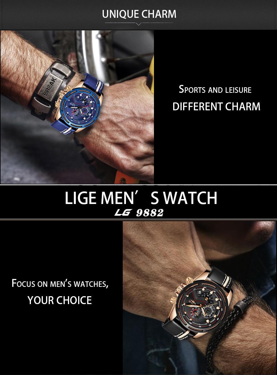 HTB1dvsQa8Kw3KVjSZTEq6AuRpXas LIGE Watch Men Fashion Sport Quartz Clock Leather Mens Watches Top Brand Luxury Blue Waterproof Business Watch Relogio Masculino