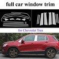Декоративные полосы для полного окна  автомобильные аксессуары из нержавеющей стали с центральным столбом для C-hevrolet T-rax