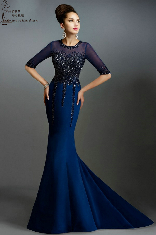 Elegant Long Blue Dresses