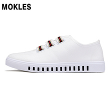 MOKLES spring wear resistant men canvas shoes youth student casual rubber shoes white black gray
