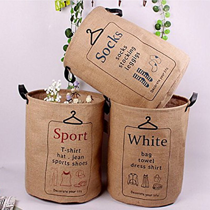 Cotton Linen Fabric Round Clothing Laundry Basket Bin Bathroom Multi function Handle Stackable Barrel Storage. Popular Bathroom Laundry Bin Buy Cheap Bathroom Laundry Bin lots