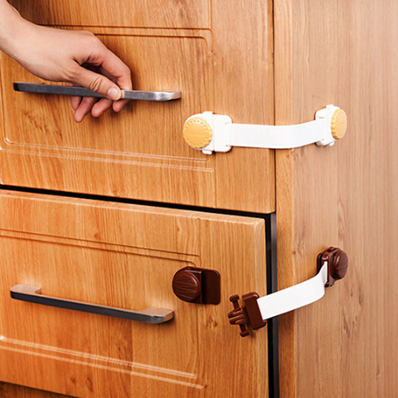 Children Drawer Door Locks Infant Cabinet Cupboard Protection Tools Baby Safety Gate Products Newborn Care Cabinet Locks Straps