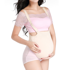 Image 5 - ONEFENG Silicone Belly Fake Pregnant Belly Cloth Bag Style for Man Woman Actor Lifelike 1000 1500g/pc