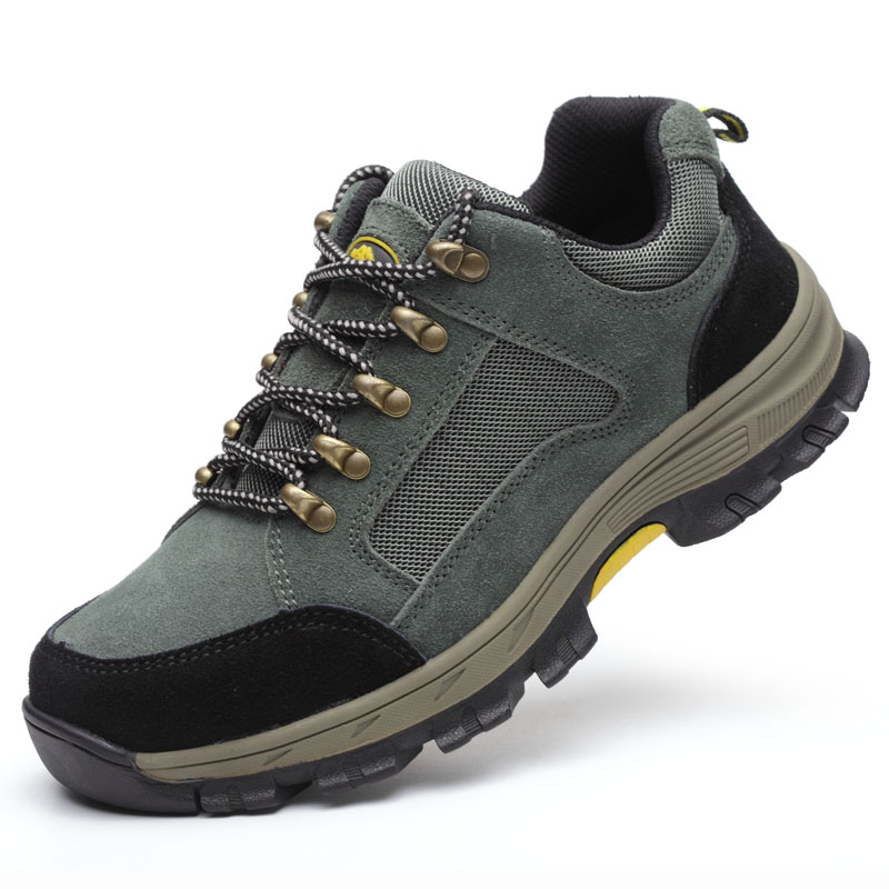 Safety Shoes Cap Steel Toe Safety Shoe Boots For Man Work Shoes Men Breathable Mesh Size 12 Footwear Wear-resistant GXZ506-2 super shock absorbing steel toe cap safety shoes tear resistant breathable work shoes