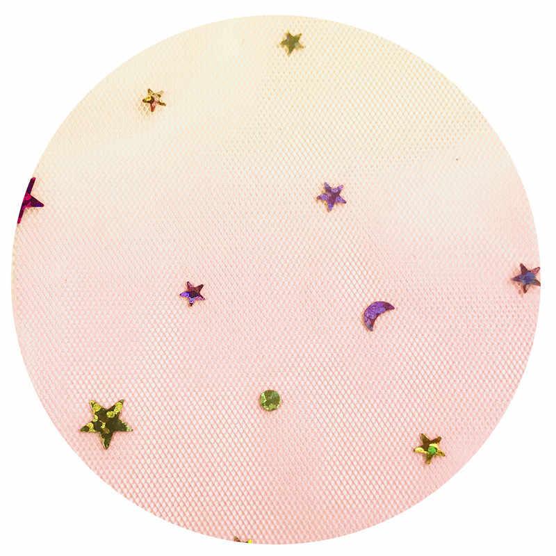 """Estrella corazón Arco Iris rollo de tul Organza tela de Tutu bebé ducha partido suministros DIY pelo hecho a mano 10 yardas 3 """"7,5 cm"""