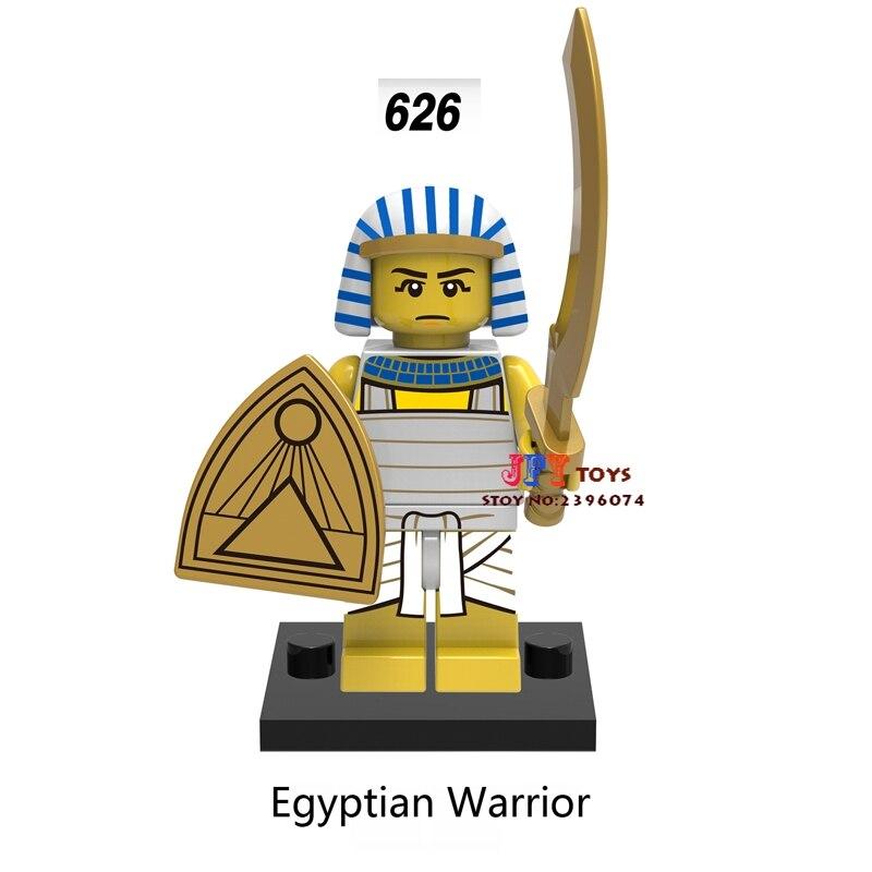 Blocks Single Star Wars Super Heroes Dc Comics Egyptian Warrior Building Blocks Models Bricks Toys For Children Kits Brinquedos Menino Carefully Selected Materials