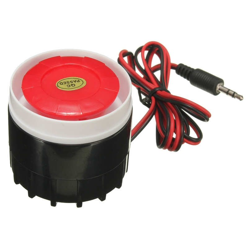 12V DC Mini Wired Siren For Wireless Home Office Living Room Bedroom Alarm Security System 120dB Mini Horn Sound Alarm