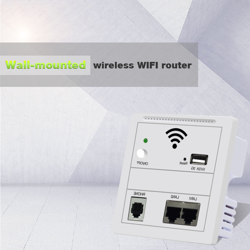 150Mbps in Wall WiFi Access Point Wireless Socket AP for Hotel WiFi Project Support AC Management RJ45 RJ11 WPS Encryption newly 300mbps in wall wifi access point wireless socket ap for hotel wifi project support ac management rj45 rj11 wps encryption