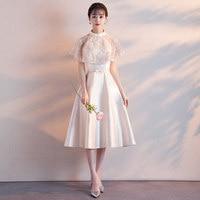 2019 New Sweet And Elegant Print Sleeveless Shoulderless Long Party Dress
