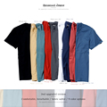 Simwood Brand Clothing Cotton O-neck Men's T-shirts Camisas Masculinas Fashion Solid Slim Fit Crew Neck Simple Top Tees TD1073