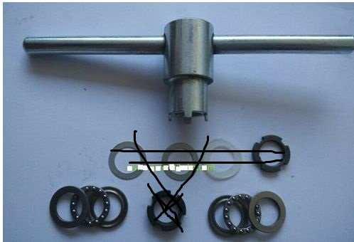 Bafang bbs01 bbs02 embrague kit de herramientas de sustitucion/lavadora/bloqueo de tuercas y rodamiento