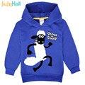 Jiuhehall 3 tipos de dibujos animados ovejas sudaderas de manga larga hoodies ocasionales para el muchacho de la muchacha de poliéster niños clothing fcm075