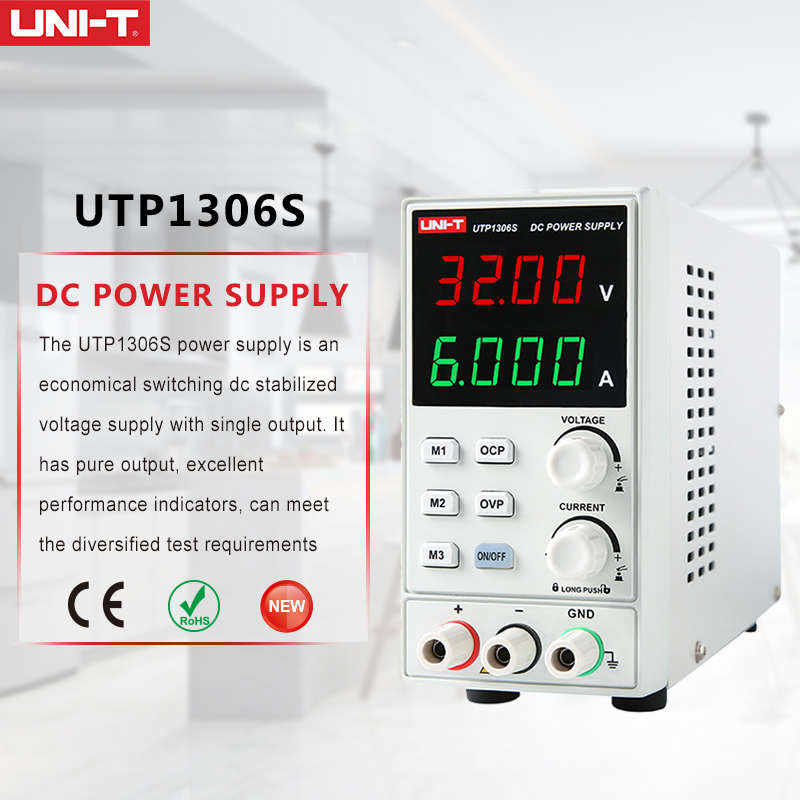 цена на UNI-T UTP1306S single-channel linear DC power supplies with low ripple/noise voltage/current features Supply Stabilized Voltage