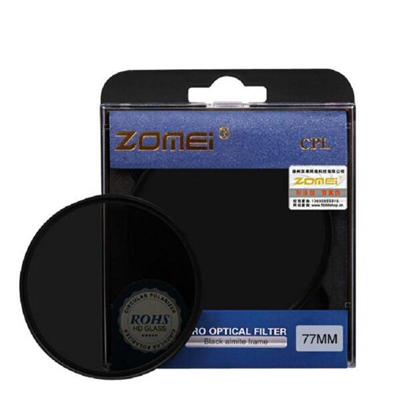 Zomei lentille C-PL filtre Polarisant Circulaire CIR-PL 49 52 55 58 62 67 72 77 82mm pour Canon Eos Nikon Sony NEX Pentax DSLR caméra