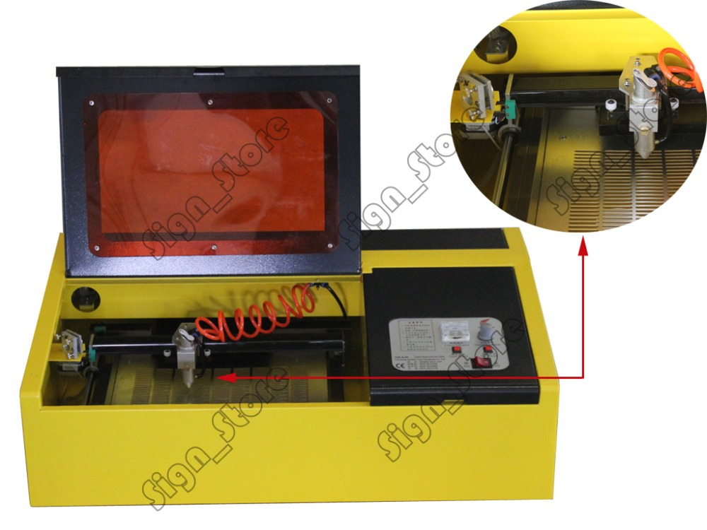 40W K40 Mini CO2 Laser Stamp Engraving Cutting Machine Laser Engraver Cutter USB Port 110V/220V