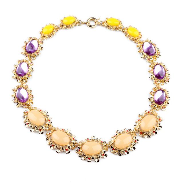 Nueva Venta Caliente Pendiente de Las Mujeres Fábrica de Color Ópalo Collar de Piedra Púrpura