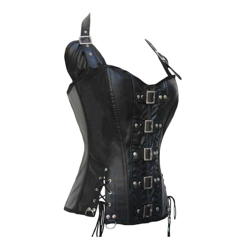 Thời Trang Dây Giả Da Bò Đen Thoáng Mát Bé Gái Gợi Cảm Bodysuit Ohyeah Gợi Cảm Câu Lạc Bộ Mặc Cho Nữ Giả Da Quần Áo 8281