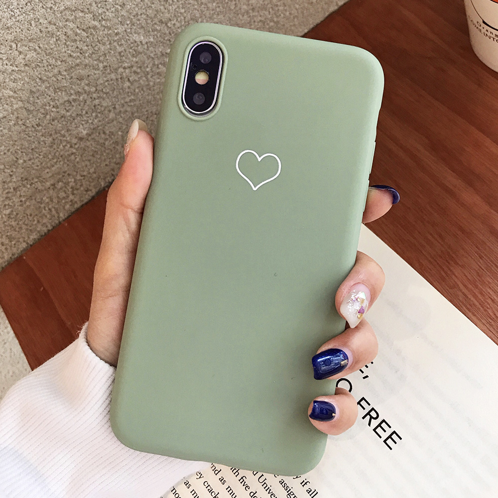 KIPX1091E_1_JONSNOW Phone Case For iPhone XS XR XS Max  6S 7 8 Plus Couples Style Love Heart Pattern Soft Silicone Case Capa Fundas