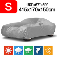 Hot Sale Outdoor Full Car Cover Waterproof Sun UV Snow Dust Rain Resistant Protection Size S