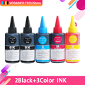 5 бутылок CMYK 100 мл Универсальный Заправляемый краситель Совместимый с HP для Canon для Brother для Epson для Lexmark для DELL