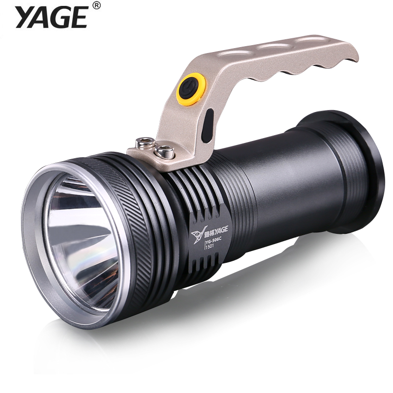 YAGE CREE Aluminum Led Flashlight 1000-10000 LM Flashlight Touch for 2*18650 Battery Lanterns Lamp EU/USA/UK Plug yage desk lamp book reading night light colorful lamp for study non limit brightness 34pcs led 3 modes lamp eu usa uk plug