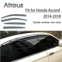 Atreus 1set ABS For 2018 2017 2016 2015 2014-2008 Honda Accord Accessories Car Vent Sun Deflectors Guard Smoke Window Rain Visor(China)