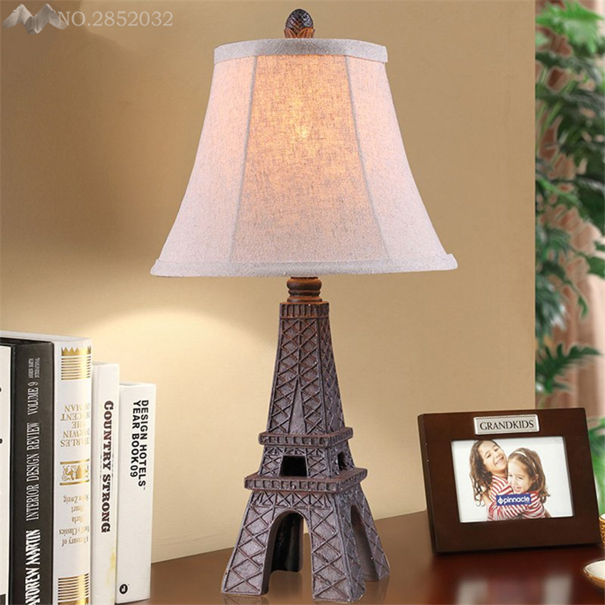 Lfh european retro creative eiffel tower table lamps resin cloth lfh european retro creative eiffel tower table lamps resin cloth desk lights bedroom bedside lamp living room indoor decoration in desk lamps from lights aloadofball Choice Image