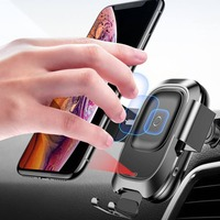 Wireless Charging Car Mount Qi Wireless Car Fast Charger Mount Phone Holder Car Phone Mount Wireless Charger For Iphone Samsung
