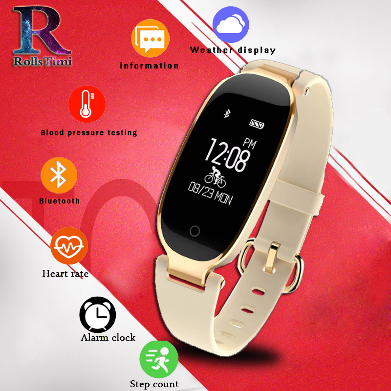 RollsTimi Hot S3 Bluetooth Waterproof Watch Women Activity Fitness Tracker Heart Rate Monitor Sports Smartwatch For Android IOS