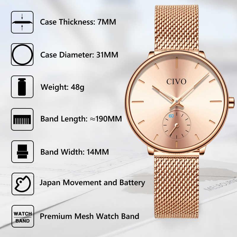 Reloj de lujo informal de lujo para mujer, reloj de cuarzo de malla de acero rosa resistente al agua, reloj de moda para mujer, reloj, reloj femenino