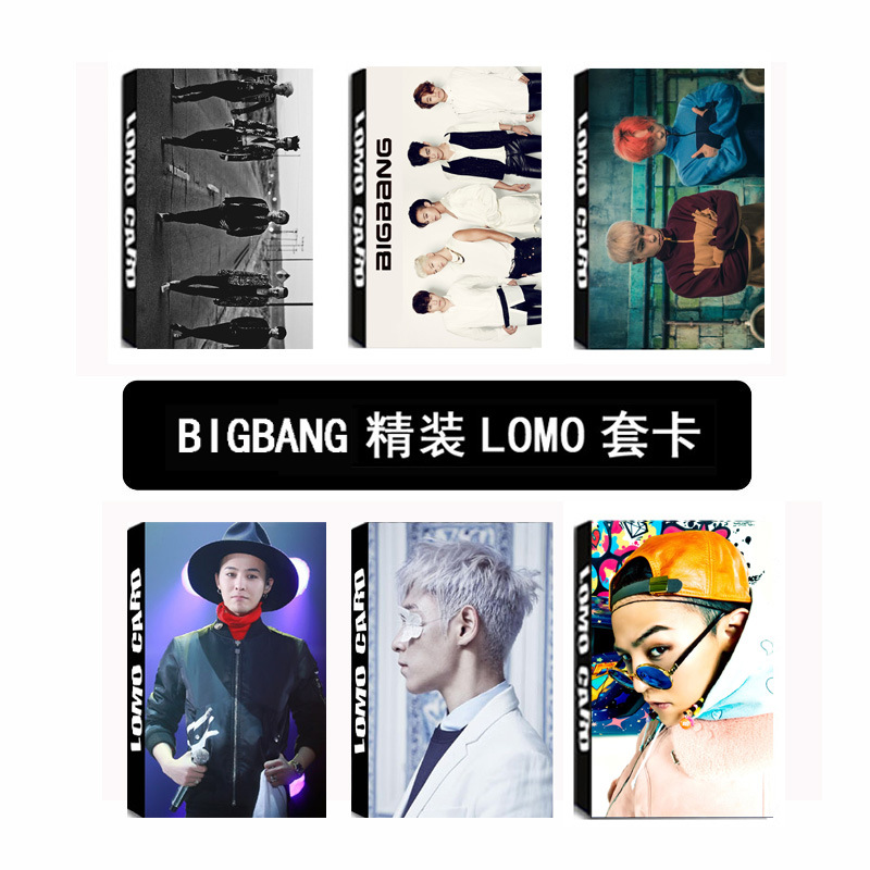 <font><b>KPOP</b></font> 2019 HOT <font><b>BIGBANG</b></font> Postcard PHOTO cards k-pop <font><b>BIGBANG</b></font> lyrics <font><b>poster</b></font>+sticker 30 pcs greeting LOMO card k pop Photocard Album image