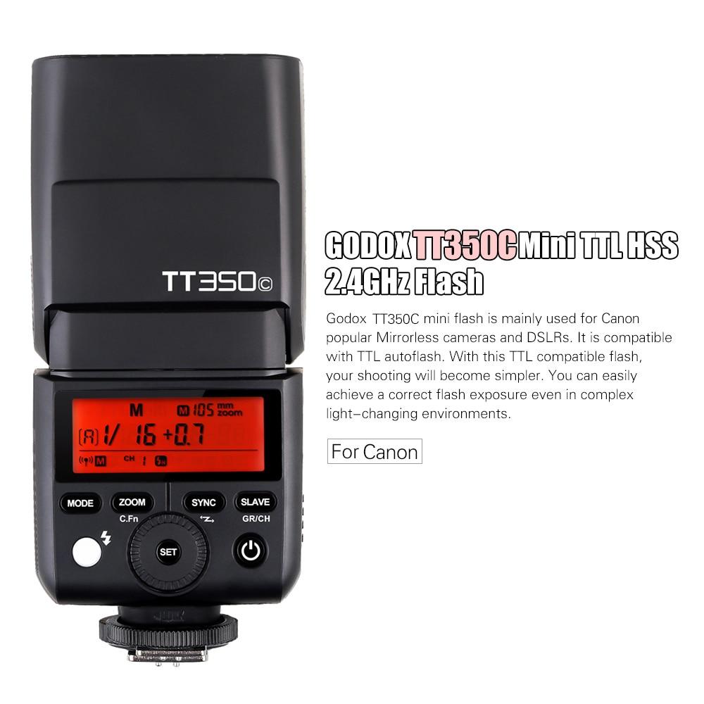 Godox Thinklite TT350C Mini 2.4G Wireless TTL Camera Flash Master /& Slave Speedlite 1//8000s HSS for Canon 5D MarkIII 80D 7D 760D 60D 600D 30D 100D 1100D Digital X Cameras