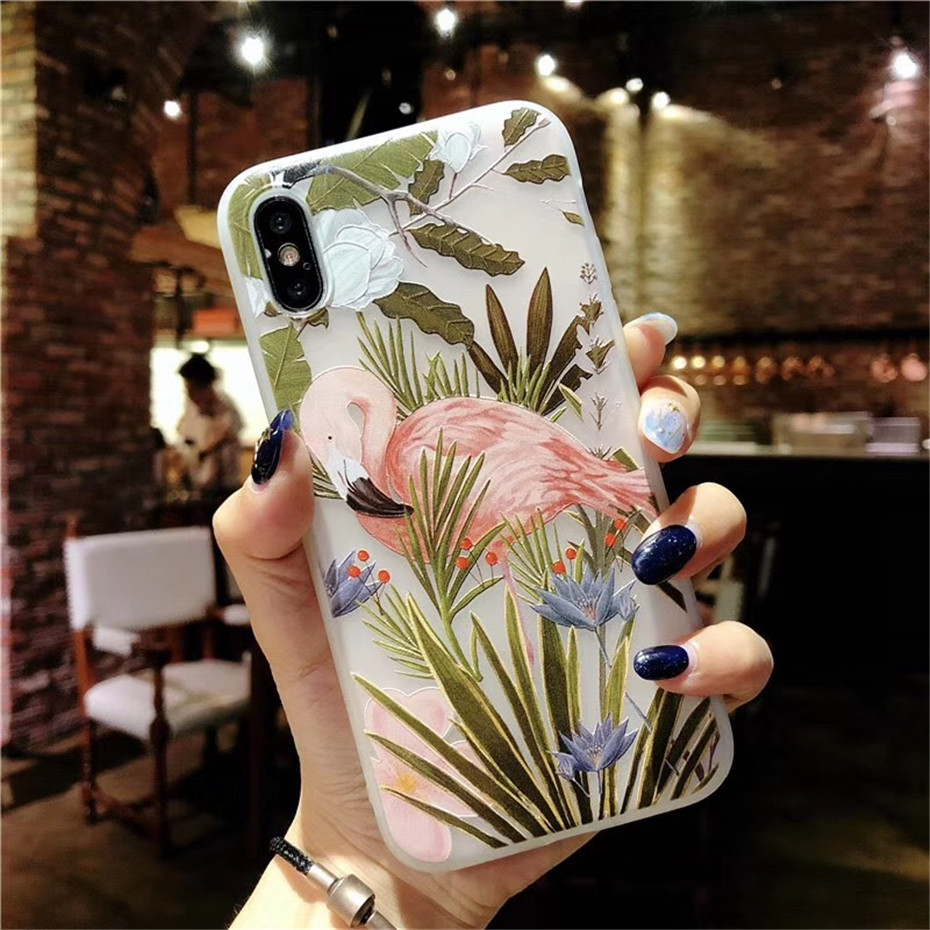 MOUSEMI Luxury 3D Silicone Case For iPhone 6 7 6S 8 Plus 5S SE X XS MAX XR Shockproof Flower Phone Case For iPhone 6 7 Case Girl (6)