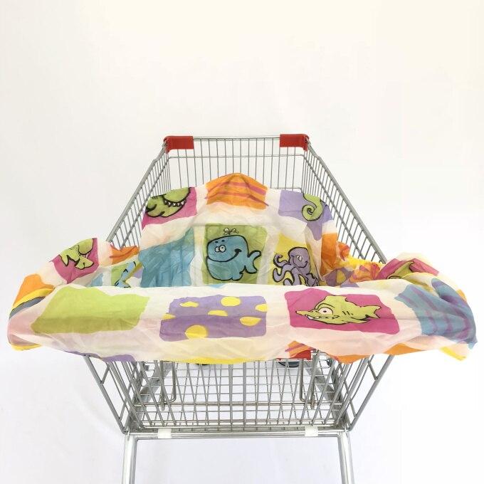 Младенческий супермаркет корзина для покупок, чехол для детского сиденья, анти-грязный чехол, детское сиденье для путешествий, подушка, не грязный, портативный - Цвет: Sea Livings