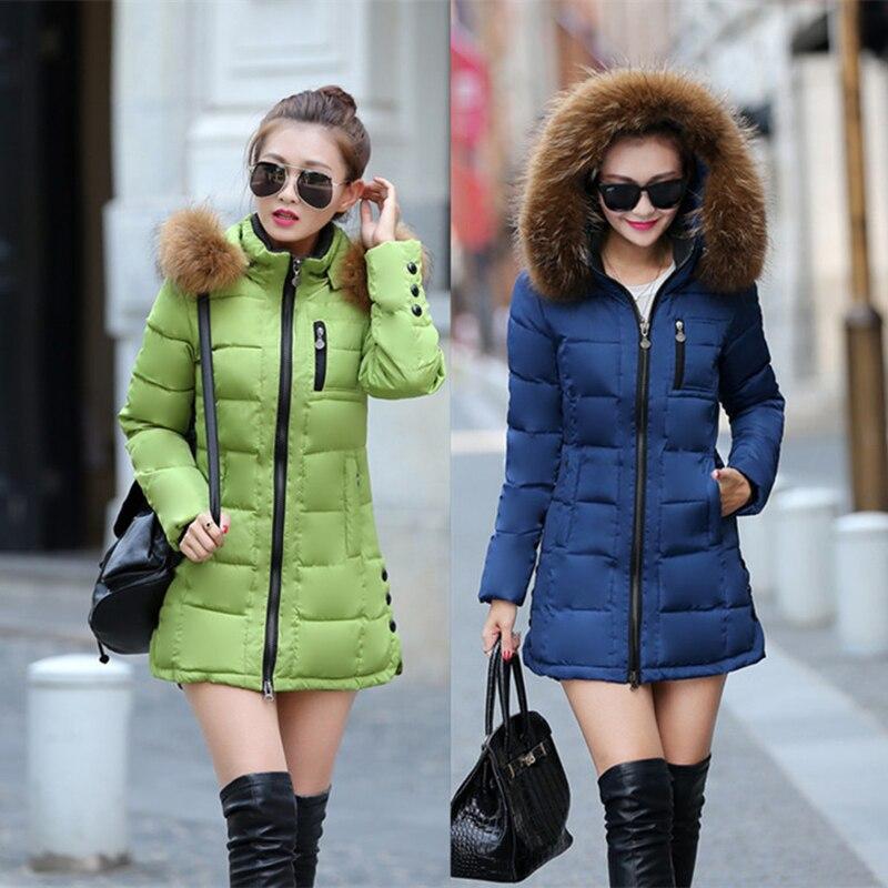 Womens Jacket Winter 2017 New Medium-Long Cotton Parka M-XXXL Size Coat Slim Ladies Casual Clothing Hot Sale