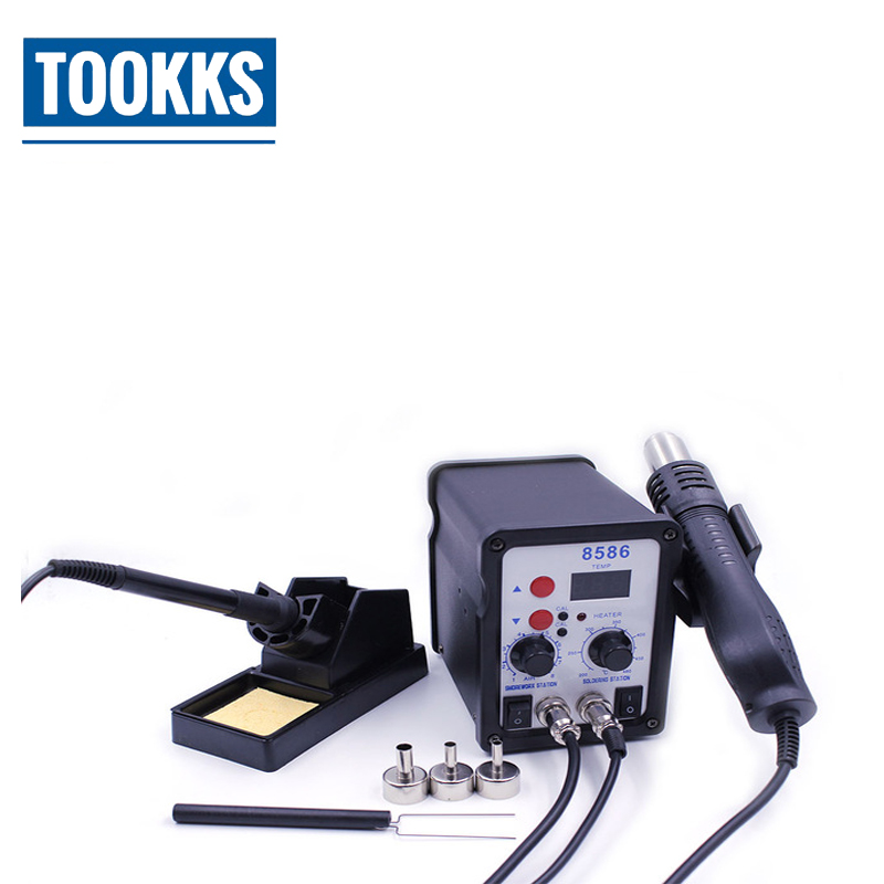 2 in 1 Economical Soldering Station And Hot Air Gun Solder Iron SMD Rework Machine For Mobile Computer Repair цены
