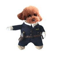 WHISM M L Polyester Pet Costumes Puppy Dog Doctor Police Clothing Costumes Outfit Clothes Hat Suit