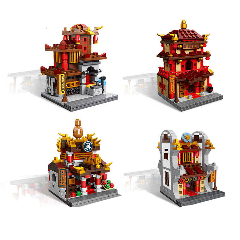New XB 01101 the creative MOC Chinese architecture Series Children Educational Building Blocks Bricks Toys Model as gifts mini architecture series 4 cubicfun 3d educational puzzle paper