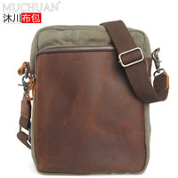 Muchuan Cloth New Product Man Single Shoulder Package Messenger Canvas Bag Packet Leisure Time Male Package