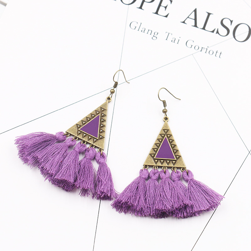 Boucle d'oreille grand triangle